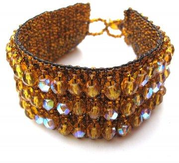 Crystal Cuff Bracelet - Cinnamon