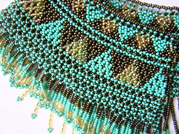 Cleo Collar - Turquoise, Gold and Bronze