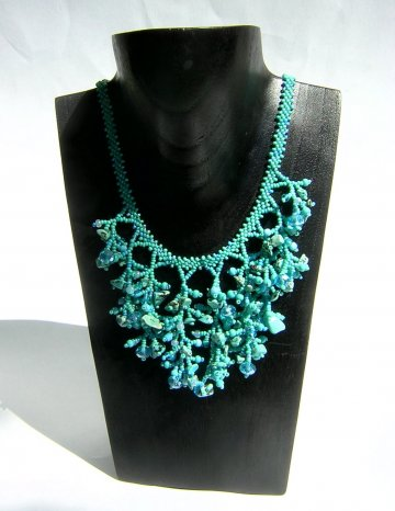 Coral Necklace - Turquoise