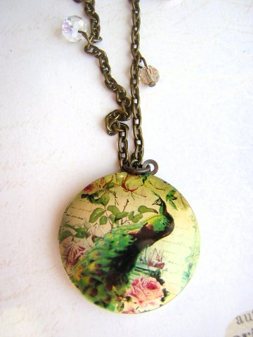 Peacock Chintz Locket