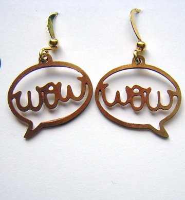 Charm Earrings - Gold Wow