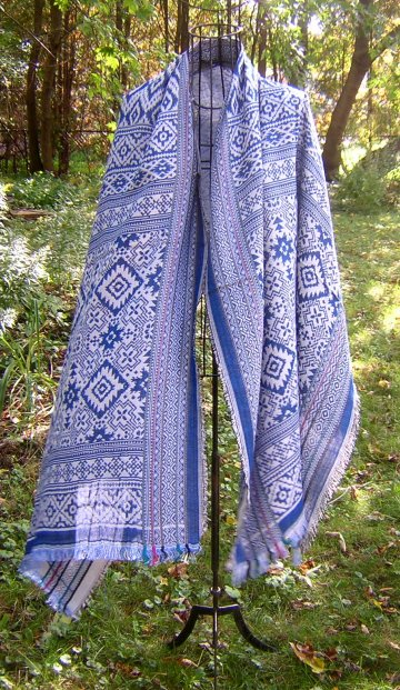 Bamboo Shawl _ Scandinavian Blue