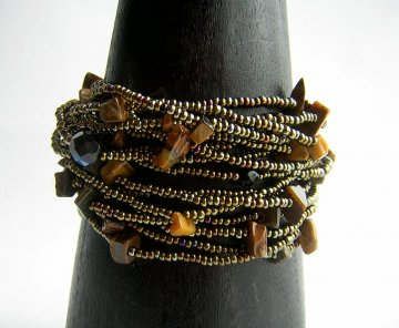 Wrist Wrap - Bronze with Tiger Eye