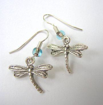 Charm Earrings - Dragonfly