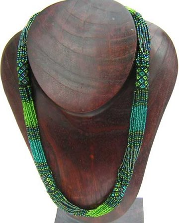 Tube Necklace - Green