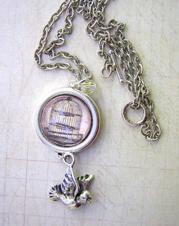 Birdcage Necklace - Silver