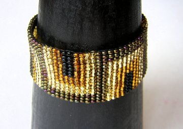 Medium  - Art Deco Woven Bracelet - Bronze/Gold