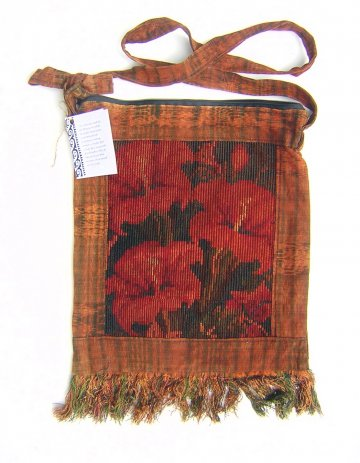 Huipil Bag -  Medium Square Chichicastenango Rust Lily
