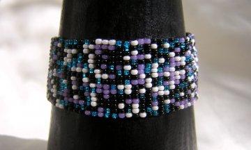 Medium Woven Bracelet - Evening Tweed