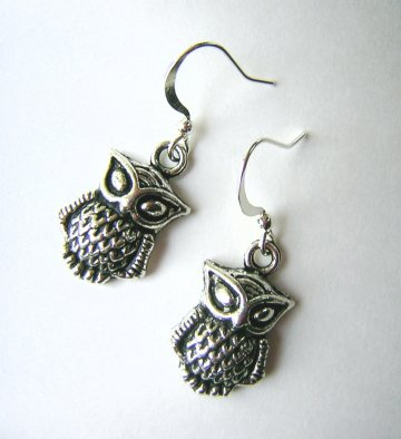 Charm Earrings - Owl