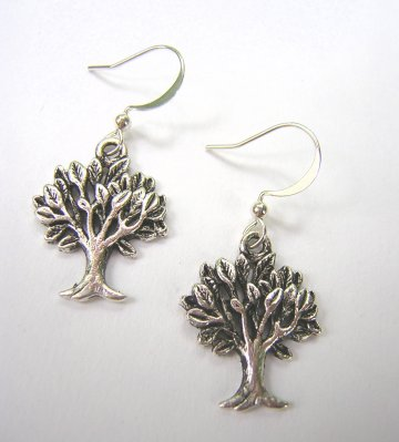 Charm Earrings - Tree silver