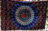 Peacock Mandala Wallhanging - Blue