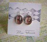 Two Cents Earrings  - Oval Silver