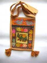 Small Elephant Applique Patchwork Bag