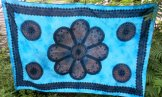 Turquoise Mandala Tapestry or Tablecloth