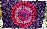 Peacock Mandala Wall Hanging - Plum