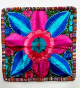 Embroidered Pillow - Single Flower 6 ***SOLD***