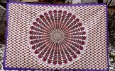 Boho Fabric Panel - Pink & Purple Mandala
