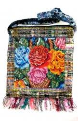 Huipil Bag -  Large Square Chichicastenango   Rose Basket