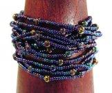 12 Strand Bracelet - Blue Metallic