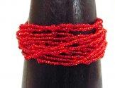 12 Strand Bracelet - Red Shine