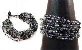 12 Strand Bracelet - Salt & Pepper Tweed