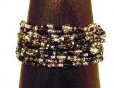 12 Strand Bracelet - Salt, Pepper & Bronze Tweed