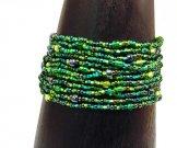 12 Strand Bracelet - Emerald Tweed