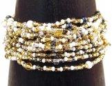 12 Strand Bracelet - White Sand Tweed