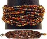12 Strand Bracelet - Cinnamon Tweed