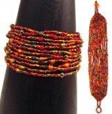 12 Strand Bracelet - Autumn Leaves Tweed