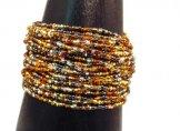 24 Strand Bracelet - Silver & Gold Tweed