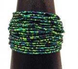 24 Strand Bracelet - Emerald Tweed