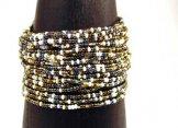 24 Strand Bracelet - White Sand Tweed