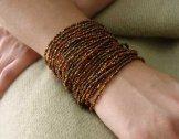 24 Strand Bracelet - Cinnamon Tweed