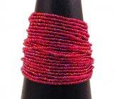 24 Strand Bracelet - Raspberry Slick
