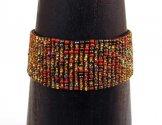 Medium Woven Bracelet - Cinnamon Tweed