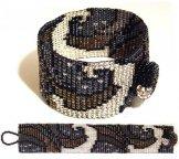 Milan Wave Woven Bracelet - Metallic