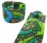 Milan Wave Woven Bracelet - Emerald