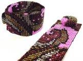 Milan Wave Woven Bracelet - Bronze Pink