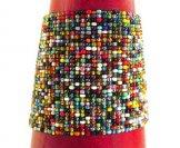 Wide Woven Bracelet - Carnival