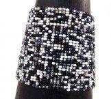 Wide  Woven Bracelet - Salt & Pepper Tweed