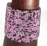 Wide Woven Bracelet - Lilac Tweed