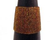 Wide Woven Bracelet - Copper