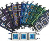 Wide - Pattern Woven Bracelet - Large Square - Assorted