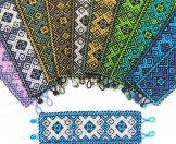 Wide - Pattern Woven Bracelet - Moorish - Assorted