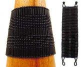 Wide - Bugle Bead Woven Bracelet - Black