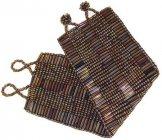 Wide - Bugle Bead Woven Bracelet - Bronze