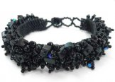 Stone Caterpillar Bracelet - Black