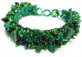 Stone Caterpillar Bracelet - Emerald Green